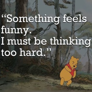Pooh bear thinking too hard