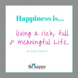 HAPPINESS = Living a Rich, Full & Meaningful Life.